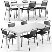 CB2 Aqua Virgio Dining table set
