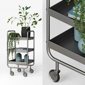 Slim Gray Metal Trolley
