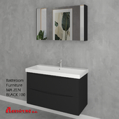 Bathroom Furniture MA ZEN BLACK 100cm