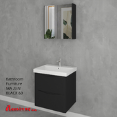 Bathroom Furniture MA ZEN BLACK 60cm