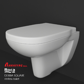 ROCA DEBBA SQUARE rimless hanged toilet