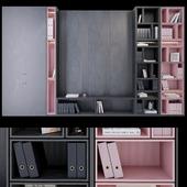Wardrobe _ plywood black and pink