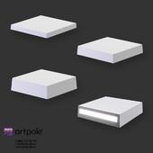 OM Gypsum 3D Panel Elementary TETRIS LED by Artpole