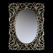 """MIRROR IN THE FRAME """"MASSIMO"""" FLORENTINE SILVER / 19"""