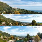 3 Панорамы.Черное море, Абхазия. Новый Афон