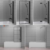 Шторки для ванн и ванны Radaway and Villeroy & Boch set 62