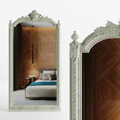 Baroque floor carved mirror