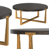 T-BRACE ROUND COFFEE TABLE