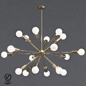 Sputnik Gold Chandelier 18