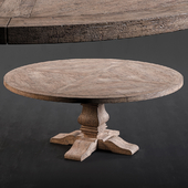 RH Salvaged Wood Round Dining Table