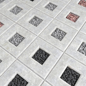 Gravel slabs / Paving gravel stone