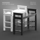 HEMNES Bench with shoe storage
