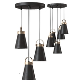 Pendant chandelier Luminex Atos 7756 3_5x60 W E27 black / brass