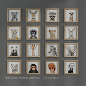 Baby Animal Prints by Jenny Kun. Size: 250x250mm.