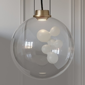 Soap Sphere Suspension Pendant Light