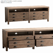 Pottery barn ARCHITECTS RECLAIMED WOOD MEDIA CONSOLE