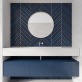 Bathroom Furniture Blue Tile