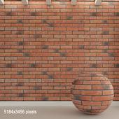 Кирпичная стена. Старый кирпич. 85