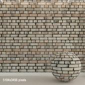 Кирпичная стена. Старый кирпич. 87
