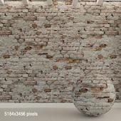 Кирпичная стена. Старый кирпич. 90