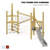 "KOMPAN. ""TWO TOWERS WITH OVERHEAD"""