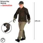 Delivery Guy Walking Animation