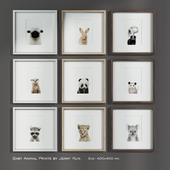 Baby Animal Prints by Jenny Kun. Size: 400x400mm.