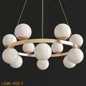 Bubble brass ring pendant light