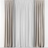 Transparent curtains.