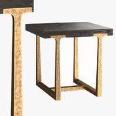 T-BRACE SQUARE SIDE TABLE