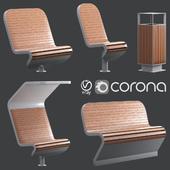 TECHNO Benches by Punto Design