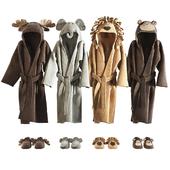 RH Baby bathrobe Animal set 002