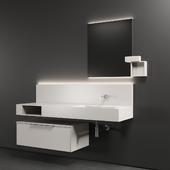 Cerasa NEROLAB SET 2 | Wood veneer vanity unit