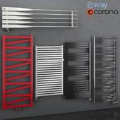 Set of heated towel rails Terma set 68