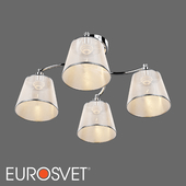 OM Ceiling chandelier with lampshades Eurosvet 60094/4 Cornetto