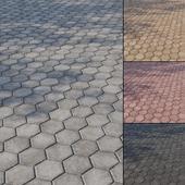 Concrete paving slabs Type 9