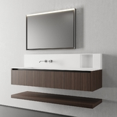 Cerasa NEROLAB SET 3 | Vanity unit with drawers