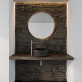 Bathroom Furniture Rock Wall