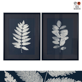 """Dark Blue Botanical Art"""
