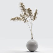 Vase with dried flowers 0002