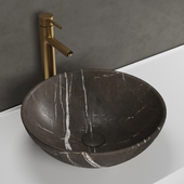 Giro pietra gray marble basin Lusso stone