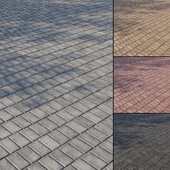 Concrete paving slabs Type 10