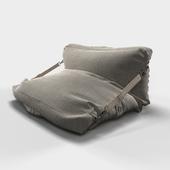 Adjustable Grey Bean Bag Chair