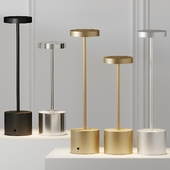 HISLE LUXCIOLE GM Table Lamp - 4 Different Metal Materials