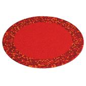 Round carpet of colored balls