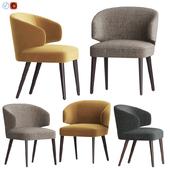 Modrest Carlton Gray Fabric Dining Chair