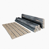 Бревна, доски/ Logs, boards.
