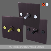 1G Toggle switch smoked bronze