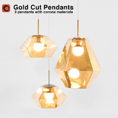 Tom Dixon Gold Cut Pendants