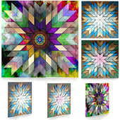 3d wood panels & Colored